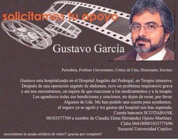 ¡Gustavo García nos necesita AHORA!